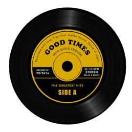 Bijzettafel LP Greatest Hits geel