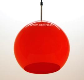Hanglamp Bol kunststof oranje