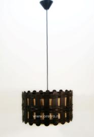 Hanglamp hout en jute