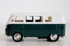 Modelauto VW bus T1 groen  1:34