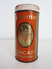 Blik de Gruyters cacao