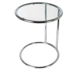 Bijzettafel rond met glas