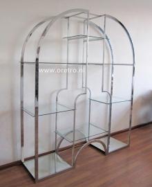 Wandkast design chroom en glas