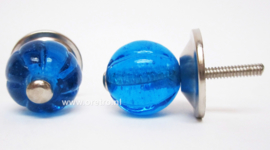 Ladeknop glas blauw