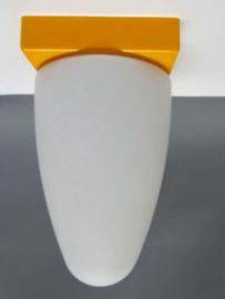 Plafonnière geel en glas menhir