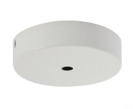 Plafondkapje metaal wit