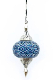 Hanglamp mozaiek Gaya blauw