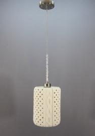 Hanglamp keramiek breiwerk tube