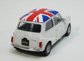 Modelauto Mini Cooper 1300 wit  1:34