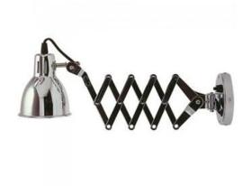 Wandlamp schaarlamp chroom M