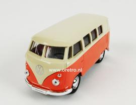 Modelauto VW T1 oranje 1:34