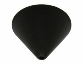 Plafondkapje kunststof zwart