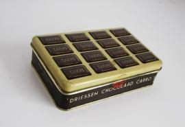 Blik Driessen chocolaad