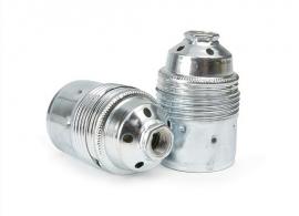 Fitting E27 metaal zilver
