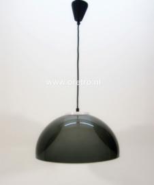 Hanglamp kunststof smokey grijs en wit
