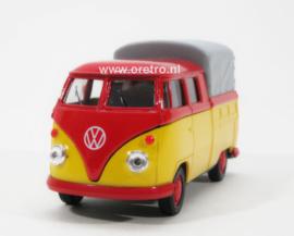 VW bus T1 Pick up met huif rood en geel