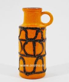 Vaas Scheurich oranje met lavaglazuur