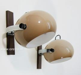 Vintage wandlampen Dijkstra 2x