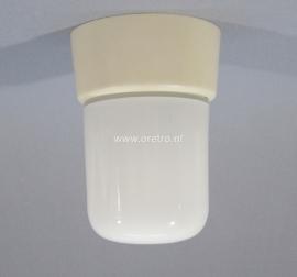 Plafondlamp glas tube opaal