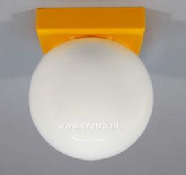 Plafonnière schroefbol met gele houder