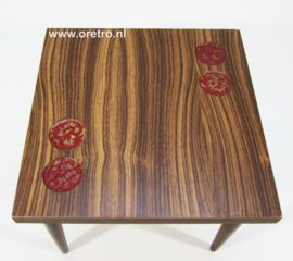 Tafeltje hout vierkant