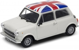 Modelauto Mini Cooper 1300 wit  1:34