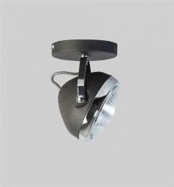 Plafondlamp Head zwart 1 spot