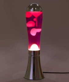 Lavalamp Magma zilver