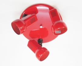 Plafondlamp 3 spot rood
