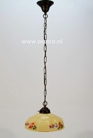 Hanglamp ketting met glas geel