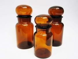 Voorraadpotten glas bruin
