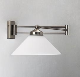 Wandscharnierlamp matnikkel