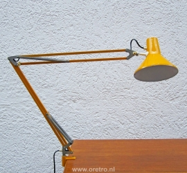 Architectenlamp geel klemlamp