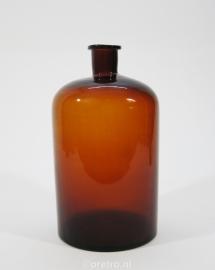 Flesvaas glas bruin