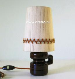 Tafellamp keramiek met stofkap