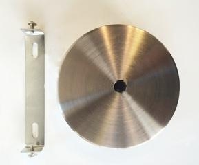 Plafondkapje metaal staalkleur