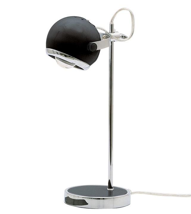 Tafellamp retro bolspot zwart