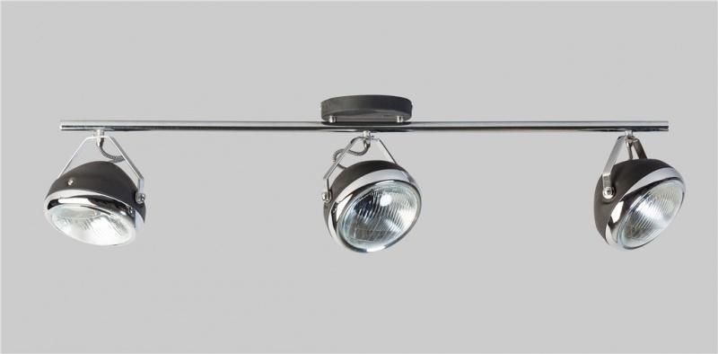 Plafondlamp Head zwart 3 spot