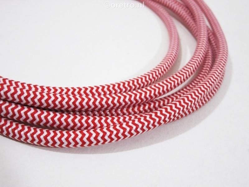 Strijkijzersnoer rood wit