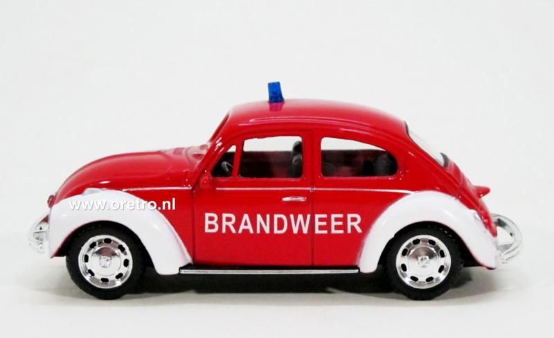 Modelauto Volkswagen Beetle Brandweer  1:43