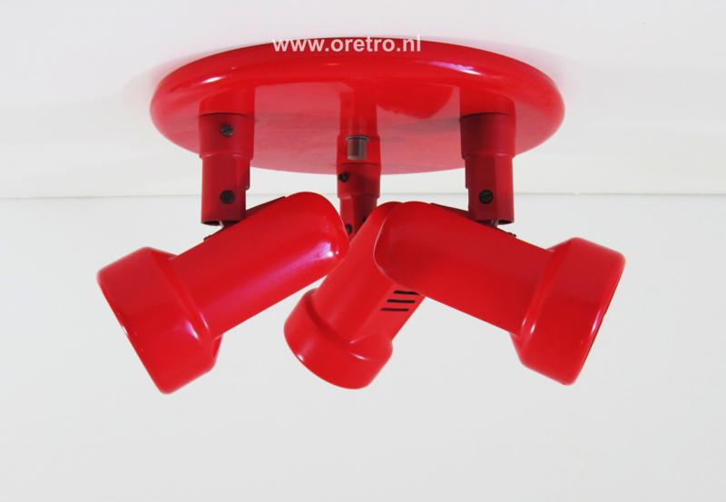 Plafondlamp spots Vrieland rood