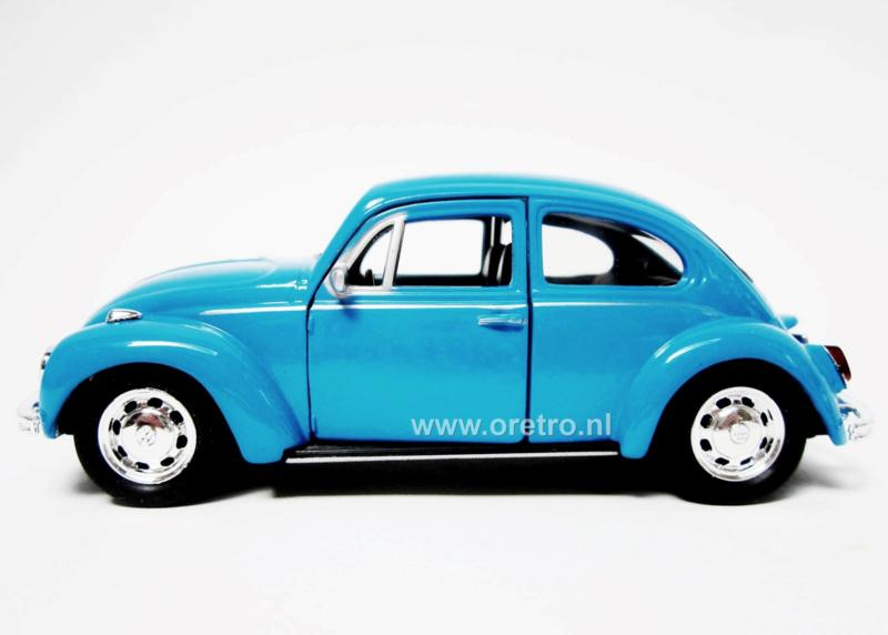 Modelauto VW kever blauw  1:34