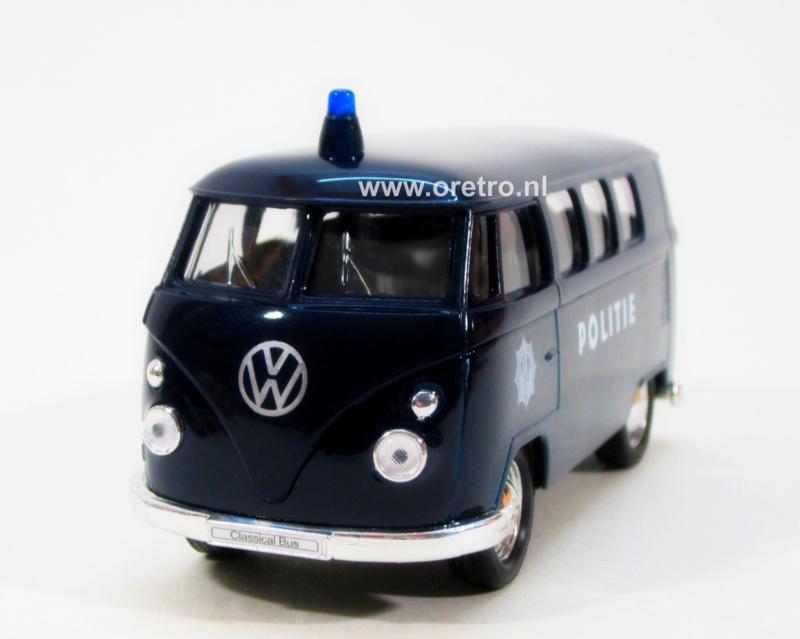 Modelauto VW bus T1 Politie  1:34