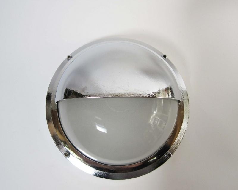 Buitenlamp chroom en matglas