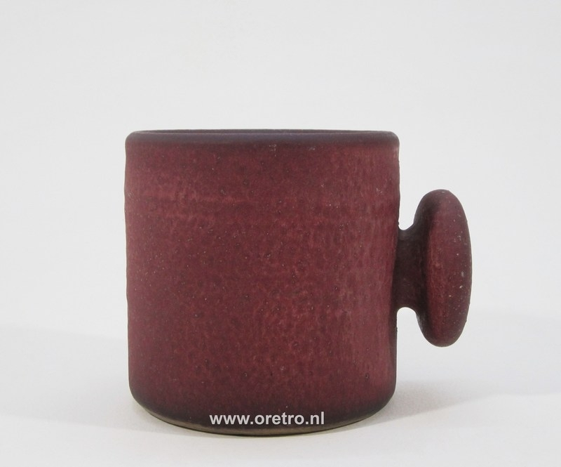 Bloempot Mobach rood
