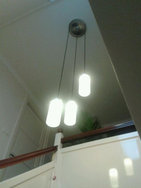 hanglamp trio cilinder in hal