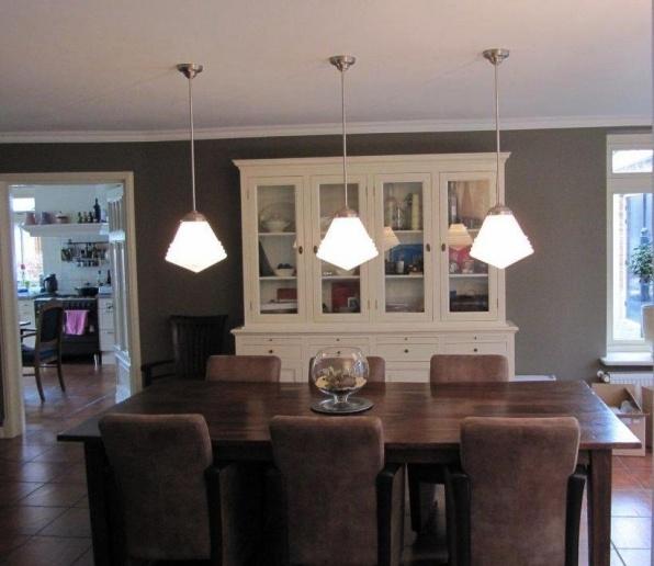 hanglampen luxe schoollamp groot boven eettafel.jpg