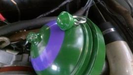 Kleine  groene  DS veerbol , sleutelhanger.