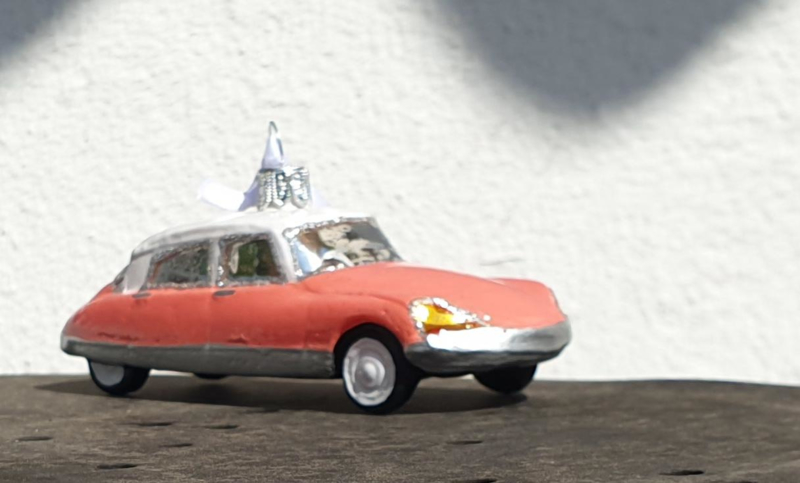 3 Citrobag Citroen Christmasballs (kerstballen) naar keuze, DS-SM en 2CV