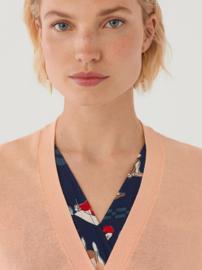 Nice Things - Basic V-neck cardigan pink